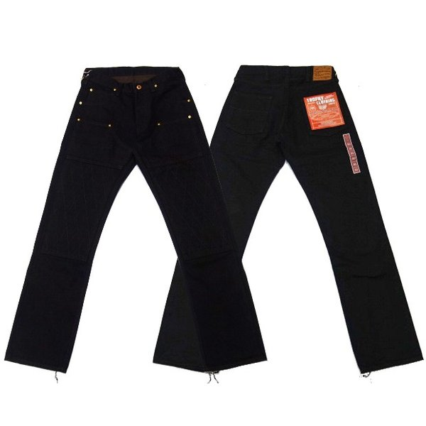 TROPHY CLOTHING トロフィークロージング ジーンズ 1908 W KNEE NARROW BLACKIE DENIM|moveclothing