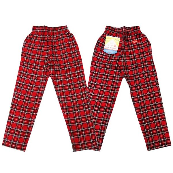 COOKMAN クックマン パンツ シェフパンツ Chef Pants Corduroy Tartan 【RED】|moveclothing