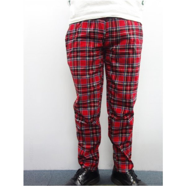 COOKMAN クックマン パンツ シェフパンツ Chef Pants Corduroy Tartan 【RED】|moveclothing|06