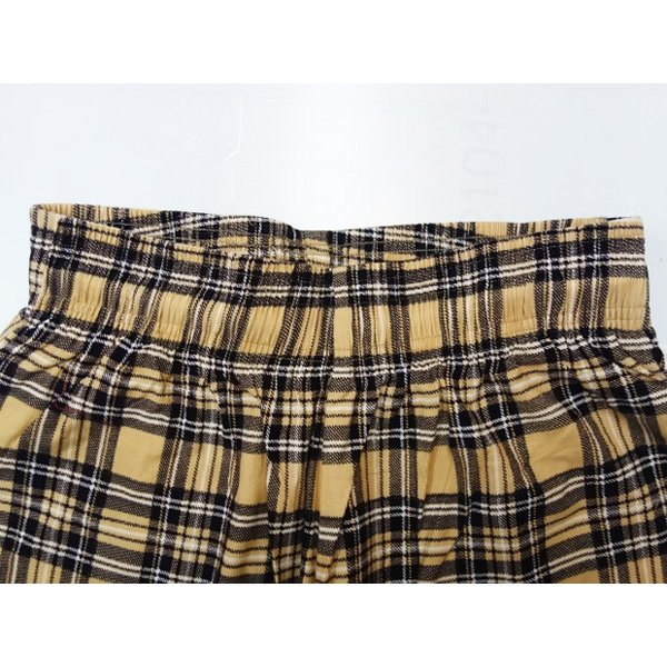 COOKMAN クックマン パンツ シェフパンツ Chef Pants Corduroy Tartan 【BEIGE】|moveclothing|02