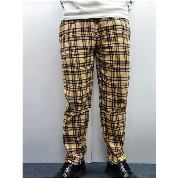 COOKMAN クックマン パンツ シェフパンツ Chef Pants Corduroy Tartan 【BEIGE】|moveclothing|06