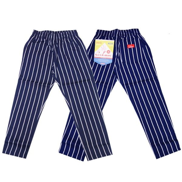 COOKMAN クックマン パンツ シェフパンツ Chef Pants Kids【Nevy stripe】|moveclothing