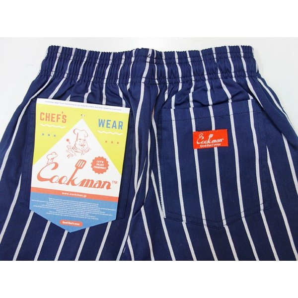 COOKMAN クックマン パンツ シェフパンツ Chef Pants Kids【Nevy stripe】|moveclothing|04