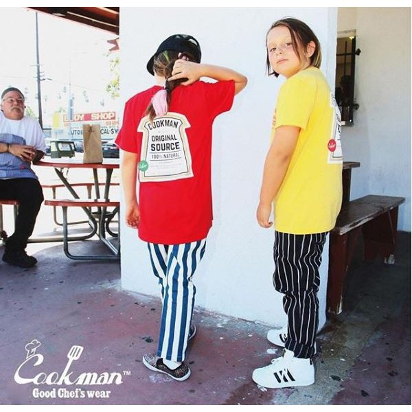 COOKMAN クックマン パンツ シェフパンツ Chef Pants Kids【Nevy stripe】|moveclothing|06