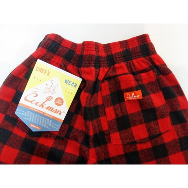 COOKMAN クックマン パンツ シェフパンツ Chef Pants 【Nel Buffalo Check】 Red moveclothing 04