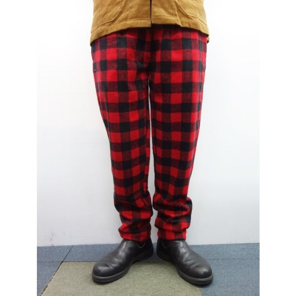 COOKMAN クックマン パンツ シェフパンツ Chef Pants 【Nel Buffalo Check】 Red moveclothing 06