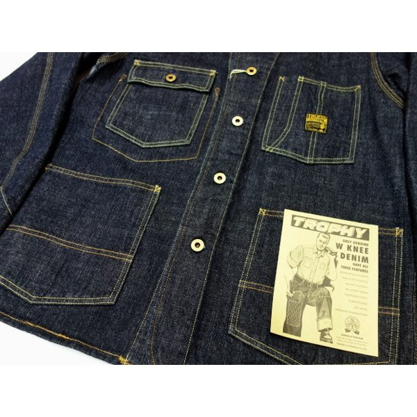 TROPHY CLOTHING トロフィークロージング カバーオール Dirt Denim Coverall 2604|moveclothing|05