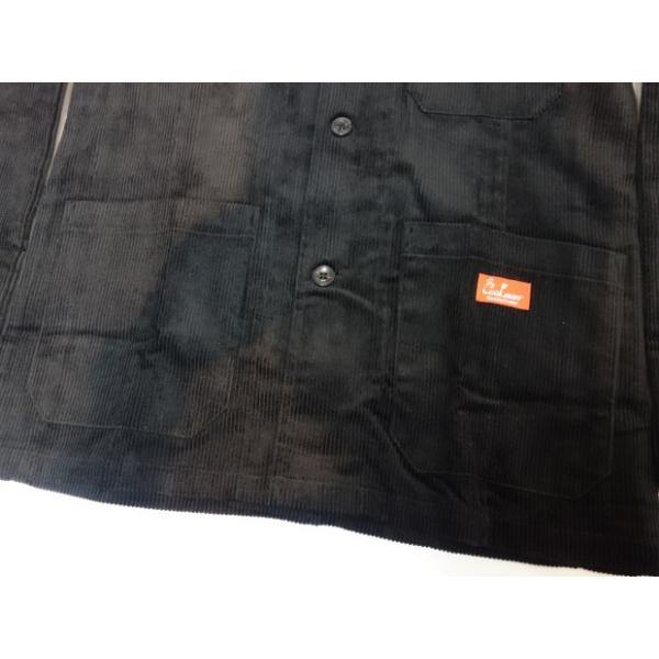 COOKMAN クックマン ジャケット Lab.Jacket Corduroy【BLACK】|moveclothing|05
