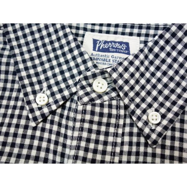 PHERROW'S フェローズ 半袖ボタンダウンシャツ 19S-PBDS2 moveclothing 04