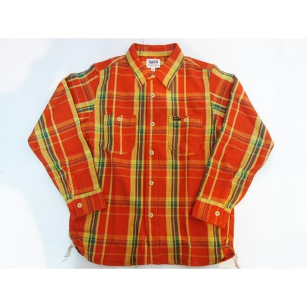 PHERROW'S フェローズ ヘビーネルシャツ 19W-720WS|moveclothing|07