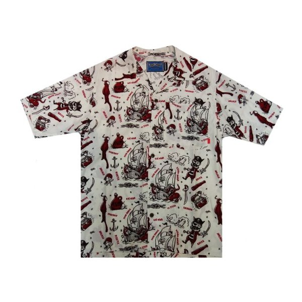 HEAD GOONIE ヘッドグーニー アロハシャツ PIRATECHOICE ALOHA SHIRTS|moveclothing