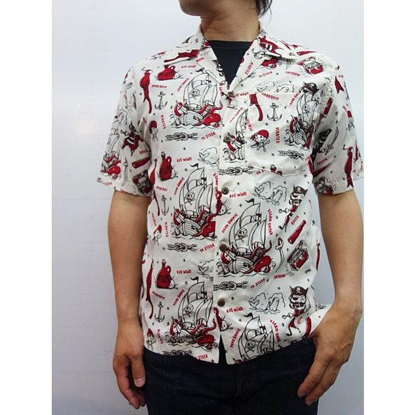 HEAD GOONIE ヘッドグーニー アロハシャツ PIRATECHOICE ALOHA SHIRTS|moveclothing|06