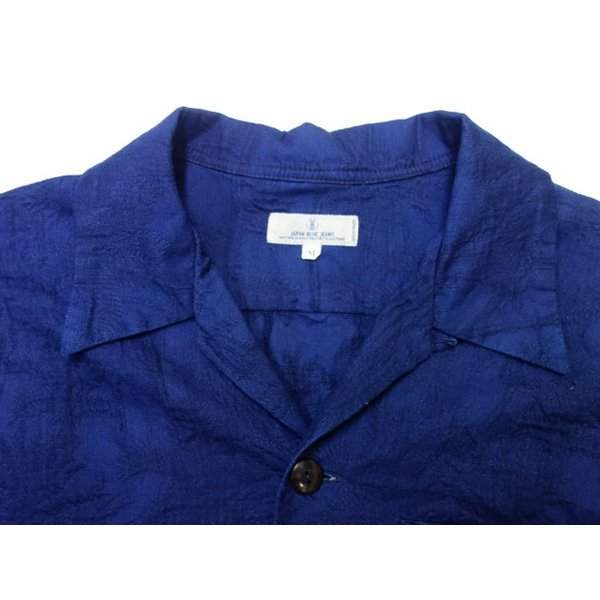 ジャパンブルージーンズ 開襟シャツ インディゴ膨れ織り(ヤシの木)|moveclothing|02