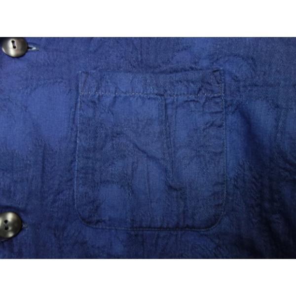 ジャパンブルージーンズ 開襟シャツ インディゴ膨れ織り(ヤシの木)|moveclothing|03