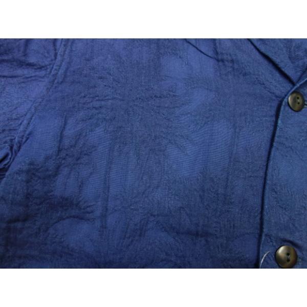 ジャパンブルージーンズ 開襟シャツ インディゴ膨れ織り(ヤシの木)|moveclothing|04