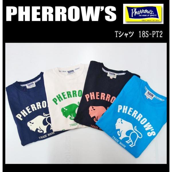 PHERROW'S フェローズ Tシャツ 18S-PT2|moveclothing