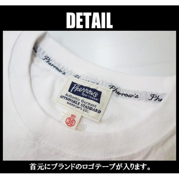 PHERROW'S フェローズ Tシャツ 18S-PT2|moveclothing|02