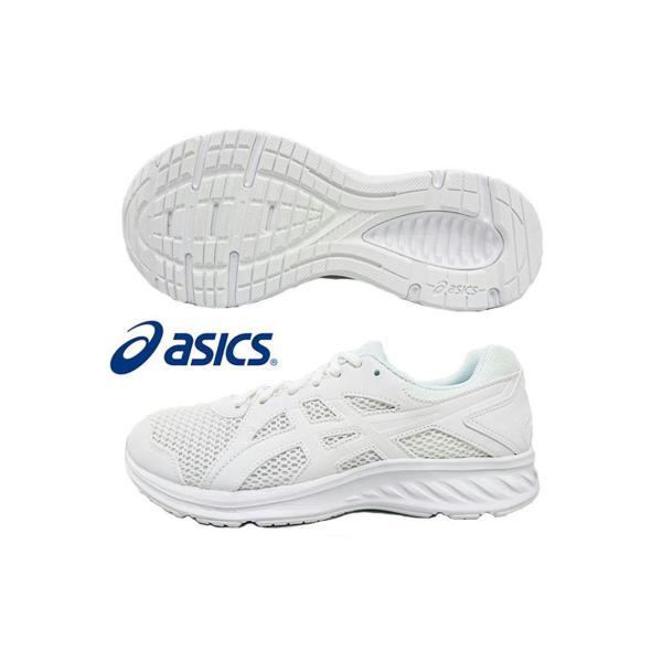 アシックス ランニングシューズ 通学靴 エキストラワイド 1011a206-100 ホワイト asics JOLT 2 メンズ レディース ジョギング 白 MOW-SPORTS