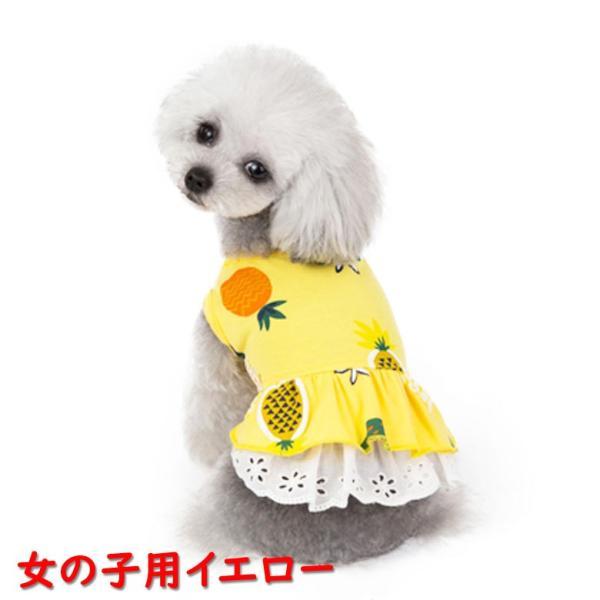 犬 犬服 犬の服 女の子用 男の子用 ワンピース スカート パイナップル かわいい dcos0029|mowmow0731|03