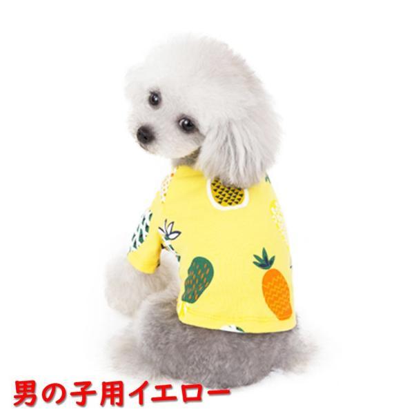 犬 犬服 犬の服 女の子用 男の子用 ワンピース スカート パイナップル かわいい dcos0029|mowmow0731|06