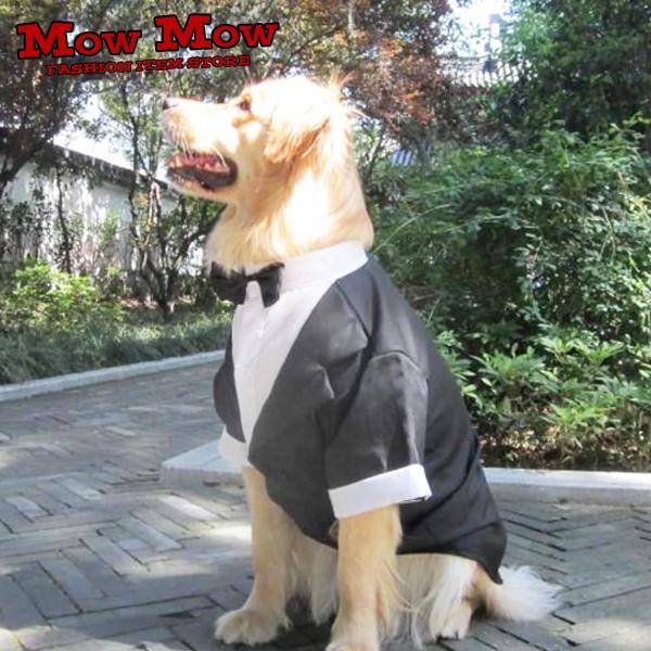 犬服 秋冬 mowmow 大型犬用 タキシード フォーマル 大きいサイズ お散歩 かっこいい dog-ogt0008