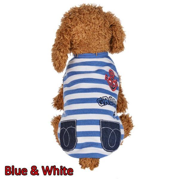 犬 服 犬服 マリン ドッグウェア ペットウェア ペット服 プリント ボーダー かわいい インスタ映え dt0092|mowmow0731|02