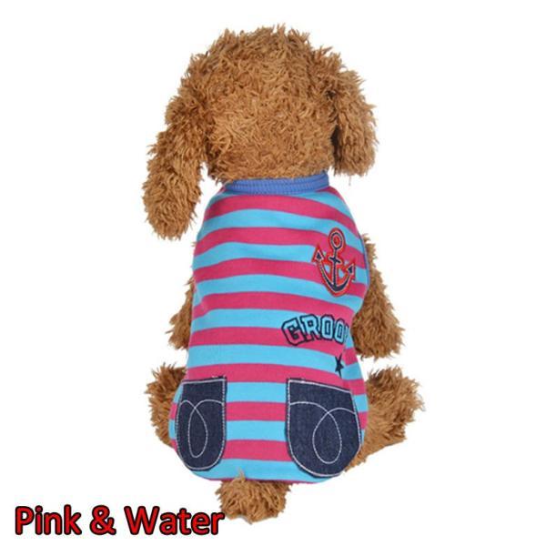 犬 服 犬服 マリン ドッグウェア ペットウェア ペット服 プリント ボーダー かわいい インスタ映え dt0092|mowmow0731|04