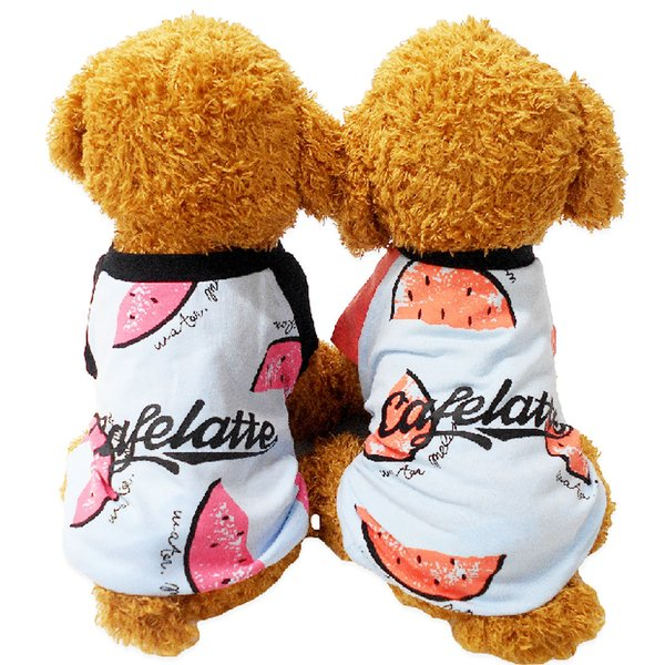 犬 服 犬服 夏用 クール Tシャツ シャツ つなぎ 春 夏 ペット服 かわいい おしゃれ スイカ 薄手 インスタ映え 小型犬 中型犬 大型犬 dts0012|mowmow0731