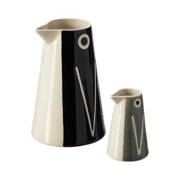 IKEA イケア レットソールド 花瓶/カラフェ2点セット, ペンギン/ブラック グレー