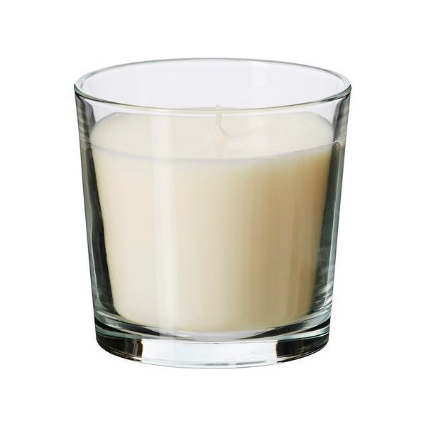 IKEA/イケア SINNLIG 香り付きキャンドル グラス入り, バニラ, ナチュラル (302.510.92)