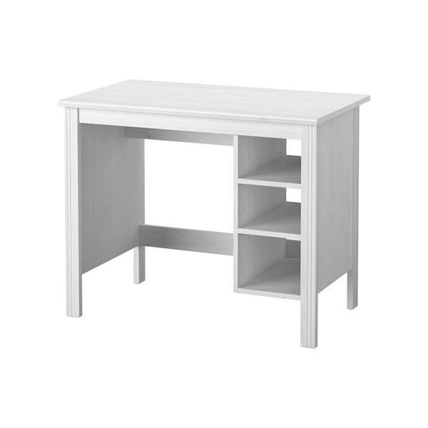 IKEA イケア デスク ホワイト 90x52cm ブルサリ BRUSALI