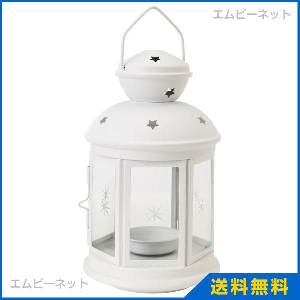 IKEA イケア ROTERA ティーライト用ランタン ホワイト 室内/屋外用 ホワイト (901.431.89)