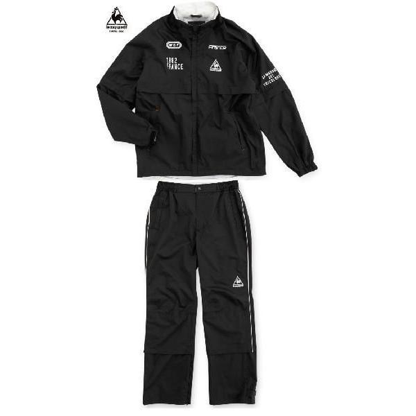 ルコックゴルフ メンズ レインウェア  上下スーツ ブラック QG7027CPN151|mps