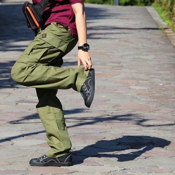 パンツ カーゴ ストレート 「綿麻 プリペラ ストレッチ」 ウエスト 調節 ストラップ付 メンズ  OAR'S|mr-lunberjack|11