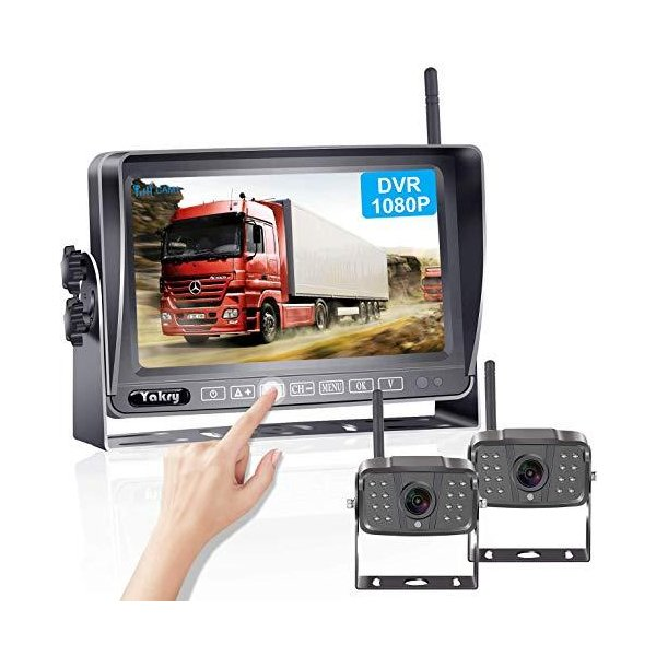 YakryY-01タッチパネルキー1080Pバックカメラモニターセット7インチバックモニターワイヤレスバックカメラ双バックカメラ