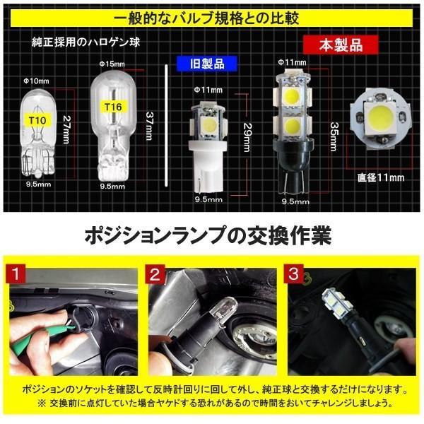T10 T16 ポジションランプ LED 9灯 次世代改良版 超 拡散型 2個セット ホワイト ブルー|mr-store|04