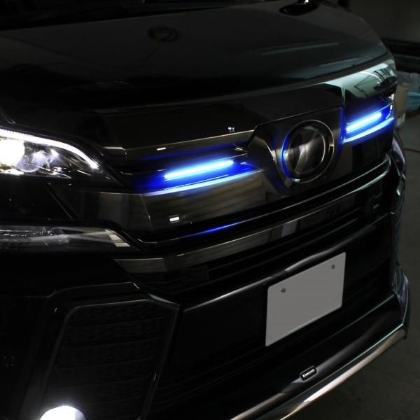 LED デイライト 27灯 2本セット ホワイト ブルー ピンク 埋め込み 極細 汎用|mr-store|05