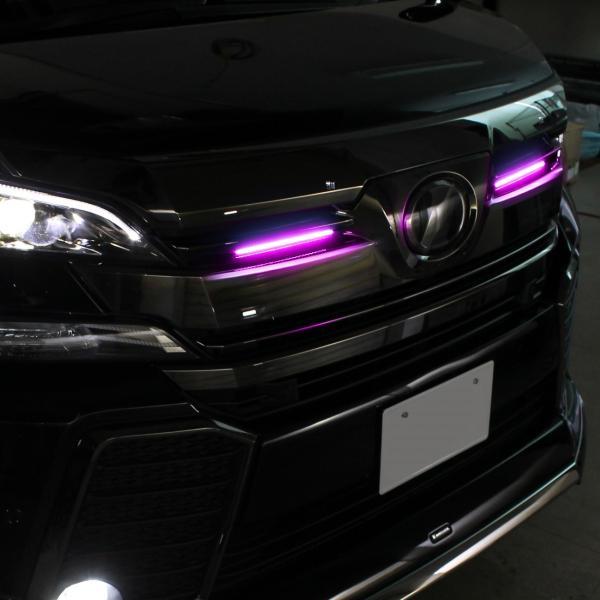 LED デイライト 27灯 2本セット ホワイト ブルー ピンク 埋め込み 極細 汎用|mr-store|06
