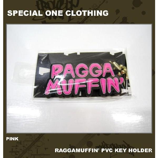 ■SPECIAL ONE CLOTHING[スペシャルワンクロージング] RAGGAMUFFIN' PVC KEY HOLDER / ピンク