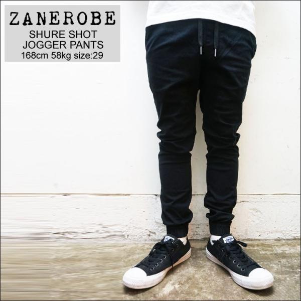 ZANEROBE ゼインローブ ジョガーパンツ SHURE SHOT JOGGER PANTS ブラック 黒 BLACK|mr-vibes