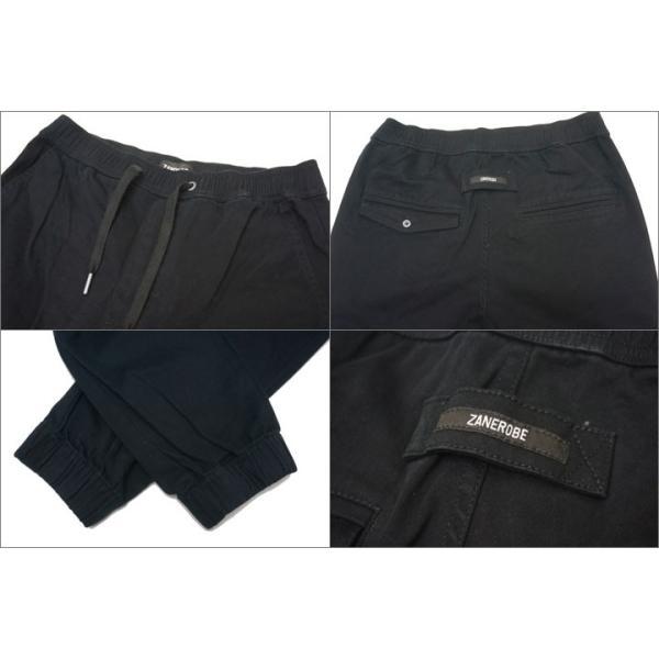 ZANEROBE ゼインローブ ジョガーパンツ SHURE SHOT JOGGER PANTS ブラック 黒 BLACK|mr-vibes|06