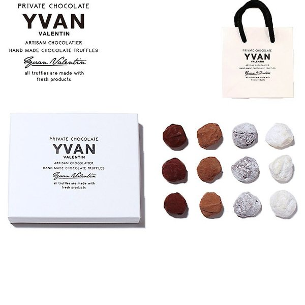 【予約販売】 イヴァン ヴァレンティン チョコ トリュフ 4種 12個入り ショップバッグ付き バレンタイン チョコレート 2021 人気 話題 おすすめ