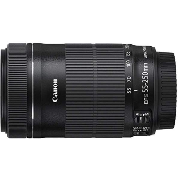 キャノン Canon EF-S55-250mm F4-5.6 IS STM ズームレンズ ブラック 交換レンズ 新品