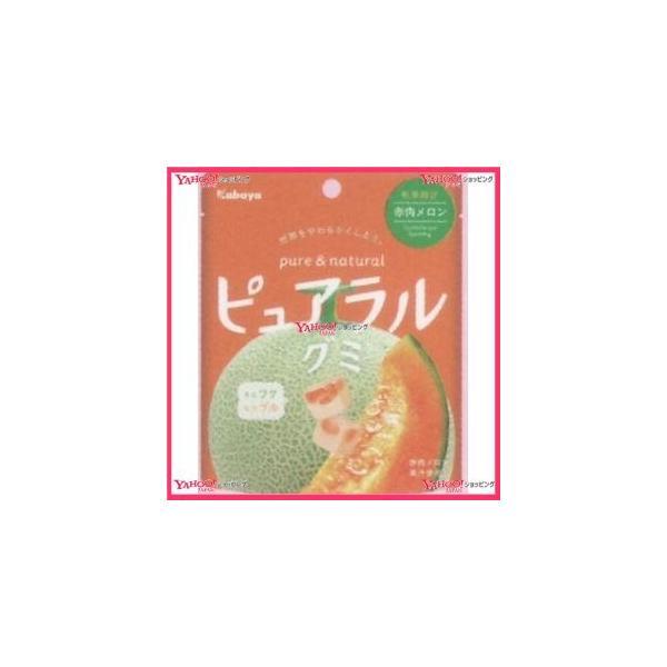 YCxカバヤ食品 58G ピュアラルグミ赤肉メロン×192個 +税 【xw】【送料無料(沖縄は別途送料)】