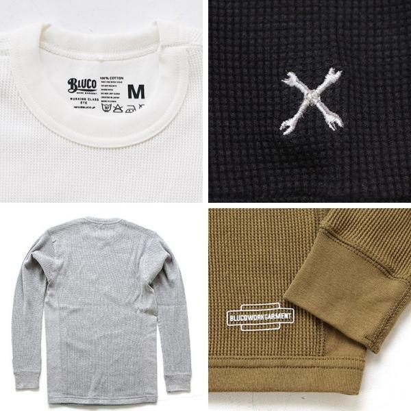 ブルコ BLUCO WORK GARMENT OL-014-018 2パックサーマルシャツ 2PAC THERMAL SHIRTS セットイン|mroldman|03