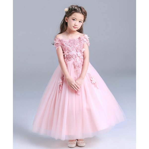 2a77f48dc62bd 子供ドレス ピアノ発表会 ロング 結婚式 キッズ フォーマルドレス 子どもドレス ジュニアドレス ピンク ...