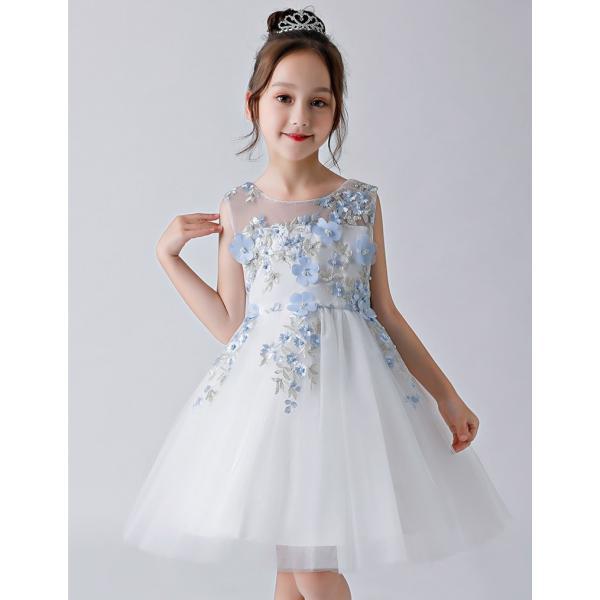 8518627579f52 子供ドレス ピアノ発表会 結婚式 キッズ フォーマルドレス 子どもドレス ジュニアドレス ライトブルー ...