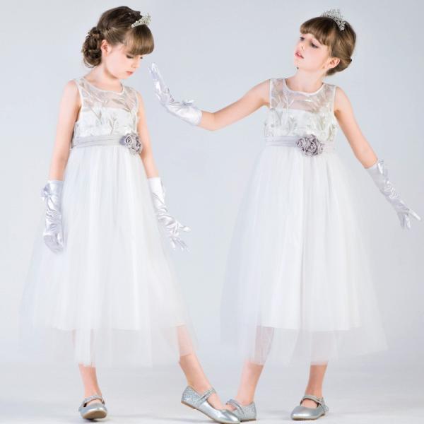 b9f4dac53b847 子供ドレス ピアノ発表会 結婚式 フォーマル キッズ 女の子 七五三 パーティードレス ジュニアドレス 白 ...