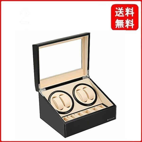 ワインディングマシーン(4本巻き+6本収納)ウォッチワインダー自動巻き時計ワインディングマシーン日本製マブチモーター超静音設計腕