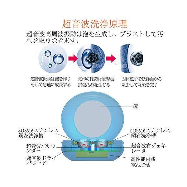 【最新改良版】 超音波洗浄機 コンタクトレンズクリーナー 洗浄器 カラコン 洗浄機 蛋白除去 ミニ超音波洗浄器 携帯用 USB充電式 【日本語説明書/ msjnet 05